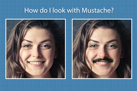 How will you look with Mustache on?