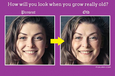 How will you look when you grow old?