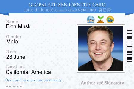Global Citizen Card ID